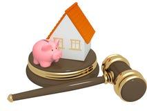 Abteilung des Eigentums an der Scheidung Stockbild