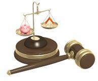 Abteilung des Eigentums an der Scheidung Stockfoto