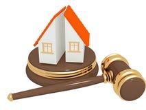 Abteilung des Eigentums an der Scheidung lizenzfreie abbildung
