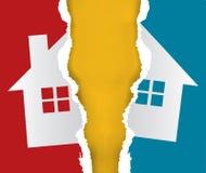 Abteilung des Gebäude und Grundstücke-Konzeptes lizenzfreie abbildung