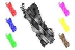 Abteilung des Lima-Kartenvektors lizenzfreie abbildung