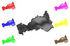 Abteilung des Pasco-Kartenvektors vektor abbildung