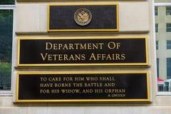 Abteilung des Veteranen-Angelegenheits-Washington DC Stockbilder