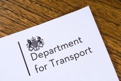 Abteilung für Transport Lizenzfreie Stockfotografie