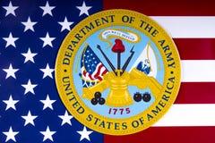 Abteilung Vereinigter Staaten der Armee Stockfotos