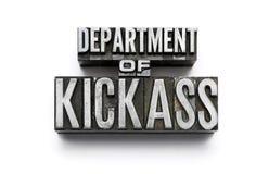 Abteilung von Kickass Stockbild