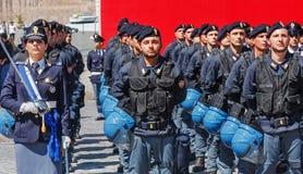 Abteilungen der italienischen Zustands-Polizei Lizenzfreies Stockfoto