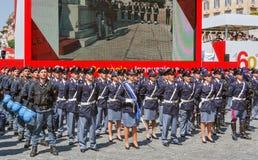 Abteilungen der italienischen Zustands-Polizei Stockfoto