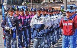 Abteilungen der italienischen Zustands-Polizei Stockbilder