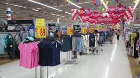 Abteilungseinzelhändler, Bangkok stock video