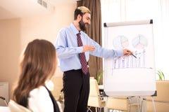 Abteilungsleiter spricht über den zukünftigen Erfolg der Firma Lizenzfreies Stockfoto
