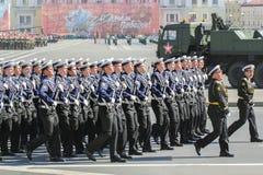 Abteilungsseeleute auf Parade Stockbilder