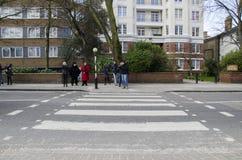 Abteistraße Zebraüberfahrt Lizenzfreies Stockbild