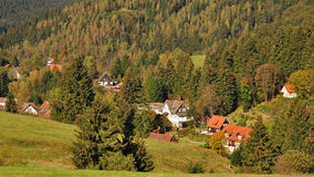 Abtenau, montañas de Harz, Alemania Imagenes de archivo