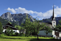 Abtenau. The mountain scenery in the alpine village Abtenau - Austria Stock Image