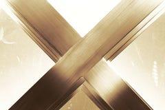 Abtract金属x形状 免版税库存图片