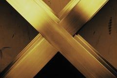 Abtract金属x形状 库存图片
