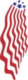 Abtract amerikanska flagganraket royaltyfri illustrationer