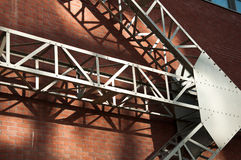 Abtract architecture. Metal and brick Stock Images
