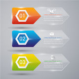 Abtract banner infographic. Abstract 3D Modern template vector banner infographics Royalty Free Stock Photo