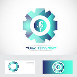 Abtract blue flower floral logo Royalty Free Stock Image