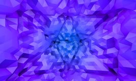 Abtract blue purple triangle pattern background Stock Image