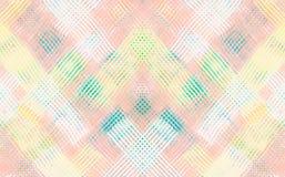 Abtract bunte digitale Kunst der rosa, orange, gelben und weißen Farbe Stockfotografie