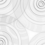 Abtract circles background. Several circles arranged at the corners of an asymmetrical manner. The circles are different sizes of the same color and overlap Royalty Free Stock Image