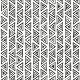 Abtract geometric pattern with triangles.. Hand drawn tribal seamless background. EPS10 vector illustration Royalty Free Stock Images