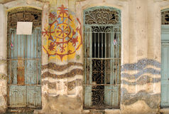 Abtract Havana facade stock photos