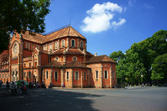 Abtract landscape of Notre Dame, Ho Chi Minh city Royalty Free Stock Photography