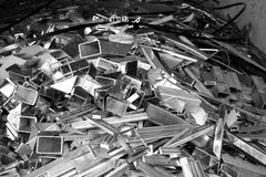 Abtract of metal scrap. For background used Royalty Free Stock Photography