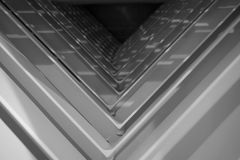Abtract-Metallwinkel Lizenzfreie Stockfotografie