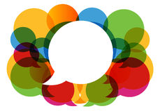 Abtract speech bubbles Royalty Free Stock Images