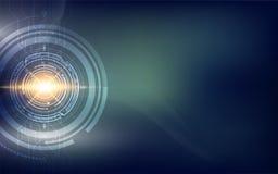 Abtract techniki sci fi pojęcia tło cześć ilustracja wektor