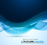 Abtract waves background for brochures and flyers design. Stock Images