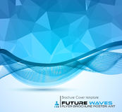 Abtract waves background for brochures and flyers design. Stock Photography