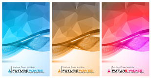 Abtract waves background for brochures and flyers design. Royalty Free Stock Photo