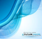 Abtract waves background for brochures and flyers design. Stock Photos