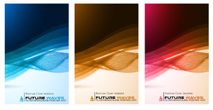 Abtract waves background for brochures and flyers design Stock Photography