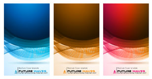 Abtract waves background for brochures and flyers design Stock Image