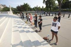 Abtreibungsprotestierender am Obersten Gericht im Washington DC Stockfotografie