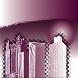 Abtsract Office Buildings. A vector illustration of an abstract background with office buildings Stock Photo