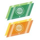Abtsract vector geometric globe logo. Earth emblem. vector illustration
