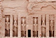 abu埃及hathor nefertari simbel寺庙 库存图片
