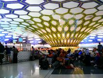 abu机场dhabi国际 免版税图库摄影