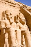 abu极大的simbel寺庙 库存图片