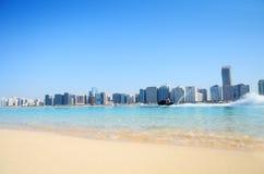 abu海滩dhabi体育运动ua水 库存照片