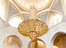 abu装饰dhabi清真寺回教族长zayed 库存图片