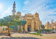 Abu al-Abbas al-Mursi Mosque i Alexandria, Egypten Arkivbild
